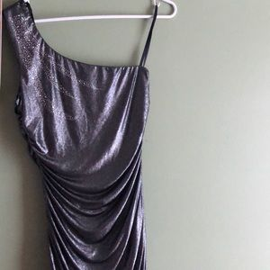 Metallic W/diamonds dress